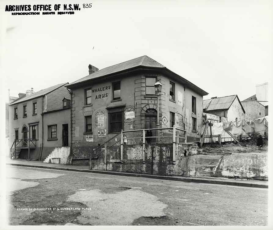 Whalers Arms c1900 - standing just down from the current location of the Australian Hotel