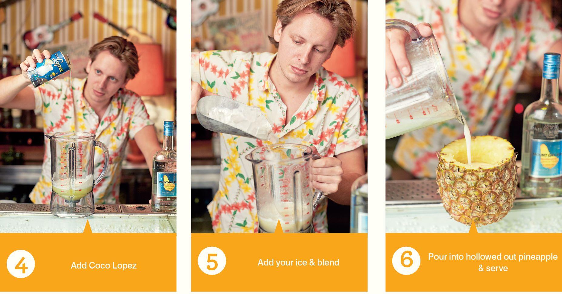 How To Pina Colada Steps 4-6