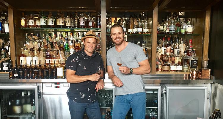 The Clock Hotel's Jeremy Shipley, left, with Whiskey Roadshow founder David Spanton.