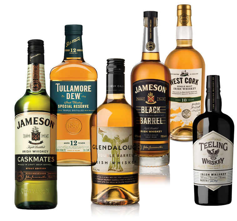 irish whiskey bottlings