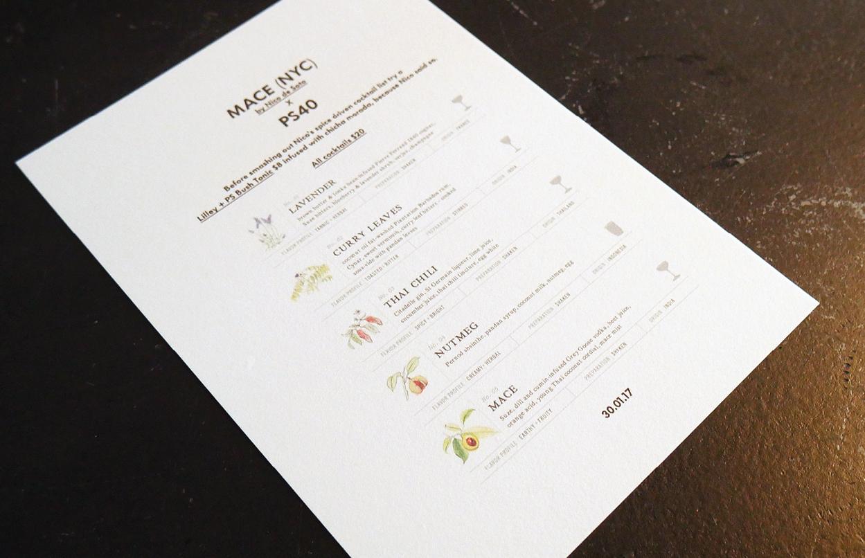 Mace PS40 menu