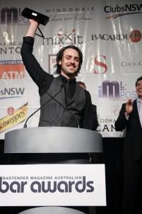 Chris Hysted - 2009 Australian Bartender magazine Bartender of the Year