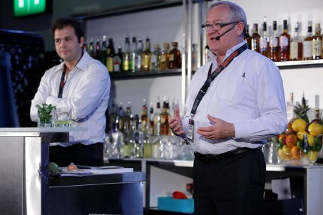 Simon Ford and Beefeater gin master distiller Desmond Payne present at Beefeater Mixology session