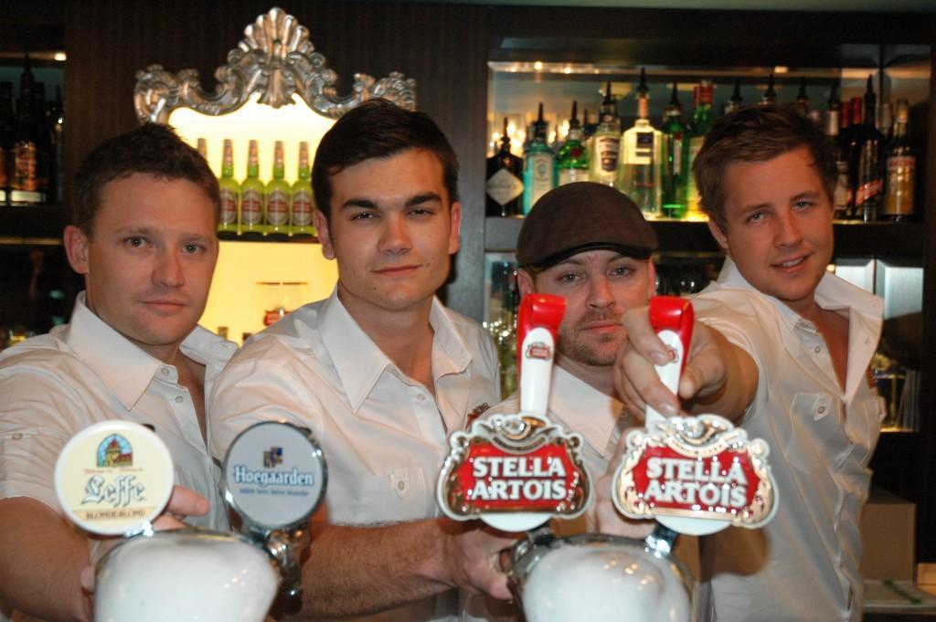 Finalists Tim Greening (Kit & Kaboodle, Sydney), Patrick Benad (Balmain Belgian Beer Cafe, Sydney), Ryan Lane (The Bowery, Brisbane), Dylan Eisenhut (Hugos Manly, Sydney)