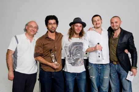 Vidal with the Sydney Finalists: Julian, Mitchel and Francesco with Sven from Behind Bars