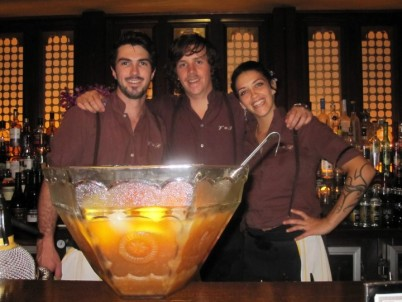 Reece, Lee, Kelly and a big bowl of punch at Victoria Room