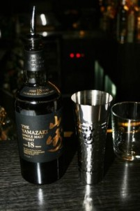 The Ocean Room team got an exclusive sample of the Yamazaki 18 and a frist look at Suntory's new whisky highball cups