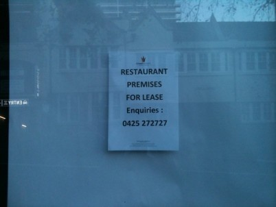 Goodnight and goodluck. Farewell for good to the Bayswater Brasserie.