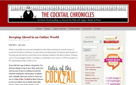 Paul Clarke's Blog: The Cocktail Chronicles