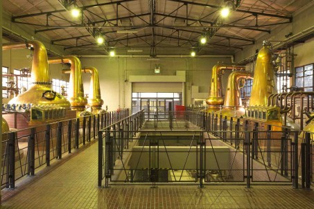 Yamazaki distillery - check out the different shapes and sizes of the stills