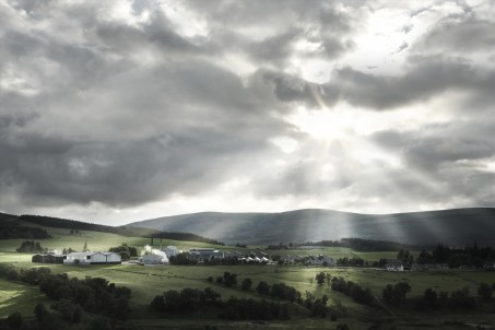 Image of Glenlivet distillery, Scotland.