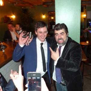 Winner Jason Williams with Pernod Ricard's Ben Davidson