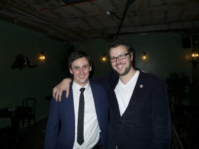 Winner Jason Williams with Beefeater global brand ambassador Tim Stone