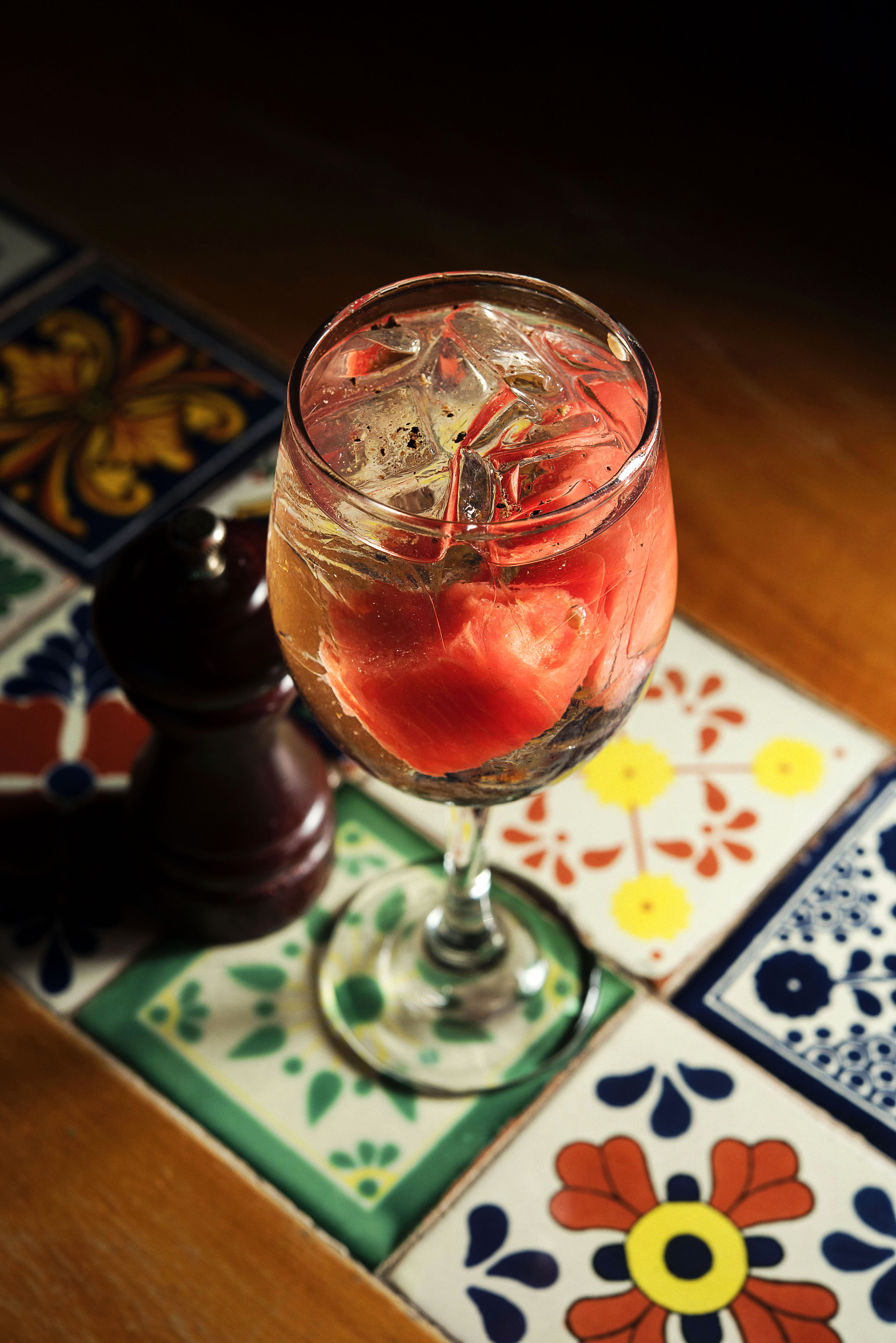 Ink Gin with Capi Tonic Water, watermelon and black pepper_CP86267