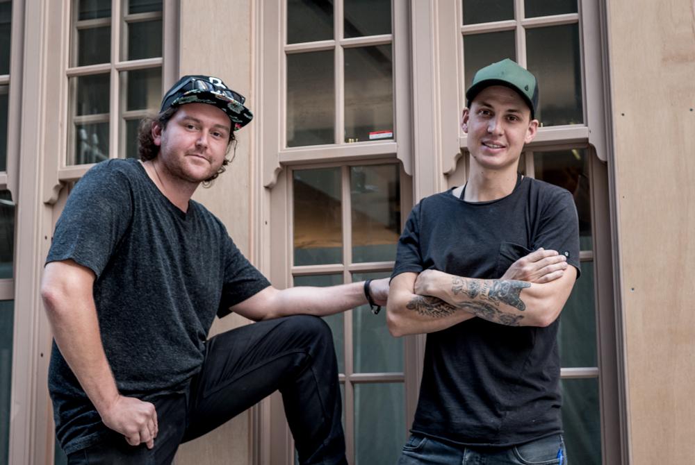 Dre Walters, left, and Jared Merlino outside Kittyhawk