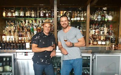 The Clock Hotel's Jeremy Shipley, left, with Whiskey Roadshow founder David Spanton.
