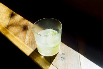 Guadalupe: Derrumbes, Rhum Clement, coconut and cane syrup, fresh pressed lime; lime wheel. Photo: Supplied.