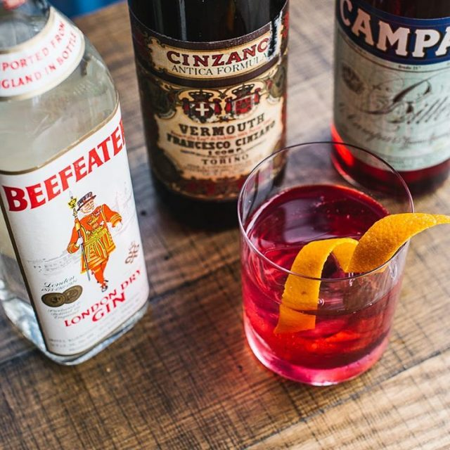The 76 Negroni from madameshanghai employs a trio of spiritshellip