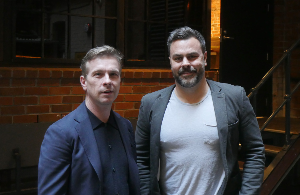 Mike Enright (left) and Julian Train, are set to open new Sydney bar The Duke of Clarence.
